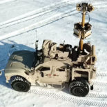 AUDS on Oshkosh M-ATV Vehicle (Anti-UAV Defence System)