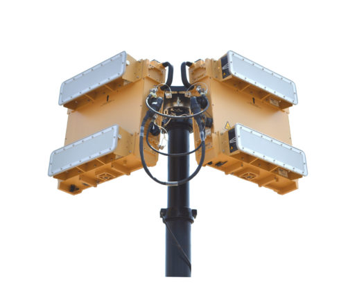 Blighter A422-HP Air Security Radar with W20S Antennas on Mast (Light Stone)