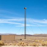 Blighter A800 3D Drone Detection Radar on Tower in Desert