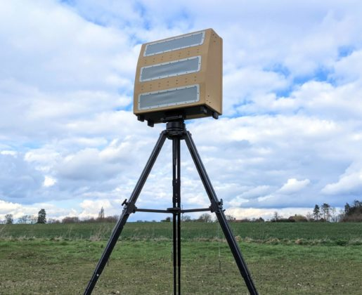Blighter A800 3D Drone Detection Radar on Tripod