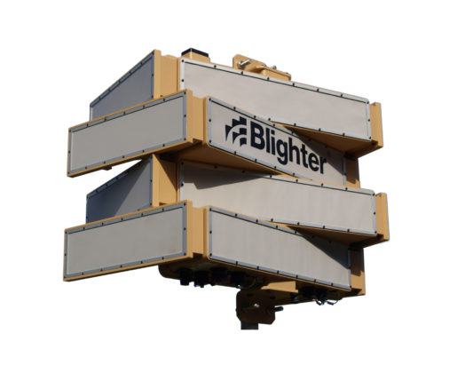 Blighter B303 Ground Surveillance Radar on Mounting Pole (Light Stone)
