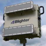 Blighter B402-SP Ground Surveillance Radar with W20S Antennas on Mounting Pole (Grey White)