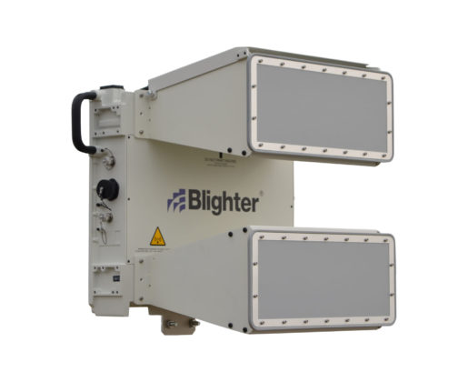 Blighter C422-HP Coastal Security Radar (Aux Radar Unit) with M10S Antennas (Angled View) (Grey White)