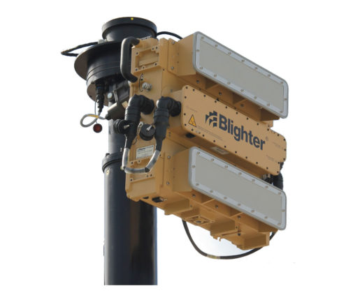 Blighter Revolution 360-HP Ground Surveillance Radar on Mast (Light Stone)