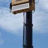 Blighter Revolution 360-HP Ground Surveillance Radar on Mast (Light Stone) (Front View)