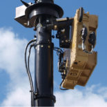 Blighter Revolution 360-HP Ground Surveillance Radar on Mast (Light Stone) (Side View)