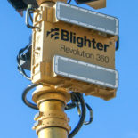 Blighter Revolution 360-SP Ground Surveillance Radar on Mast (Light Stone) (Front View)