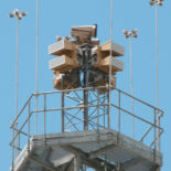 Dual Blighter B422-HP Ground Surveillance Radars on Tower (Light Stone)