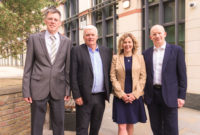 Mark Radford (Co-Founder and CTO), Keith Todd CBE (Non-Executive Chairman). Tracy Sambrook (CFO) and Angus Hone (CEO)