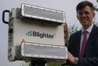 Mark Radford Director Blighter Group with a Blighter B400 Series E-scan Radar