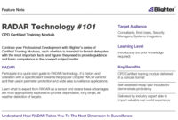 Updated Feature Note Published - Radar Technology #101